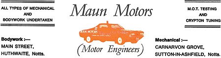 Historic Maun Motors Letterhead from the 1970s