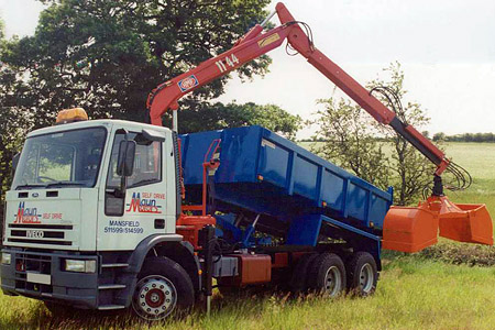 Maun Motors First Muckaway Tipper Grab Crane Lorry Joins the Hire Fleet