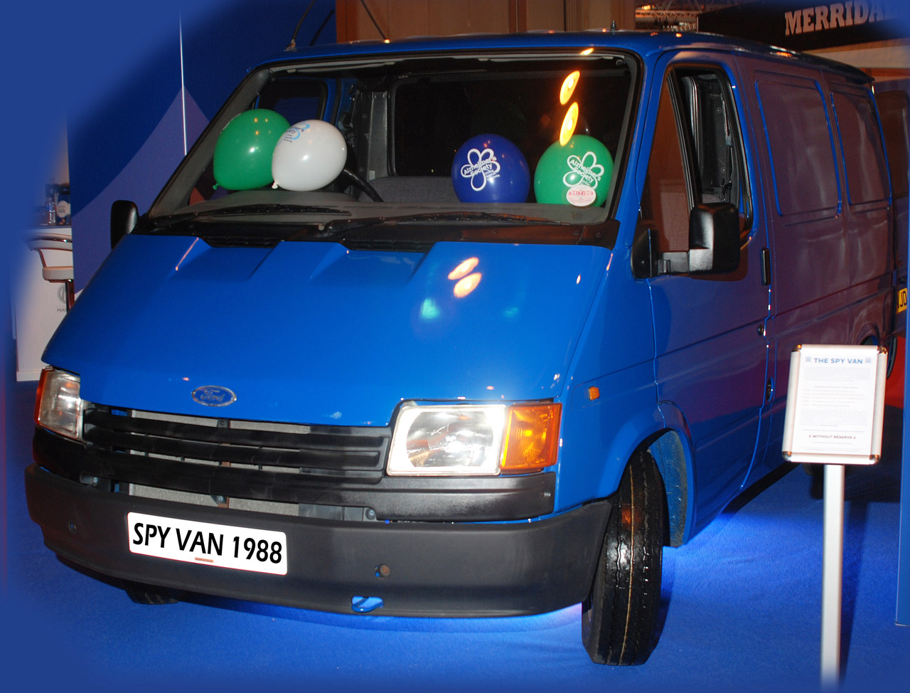 Ford Transit 'Spy Van' to be Auctioned wityh all proceeds going to Alzheimer's Society