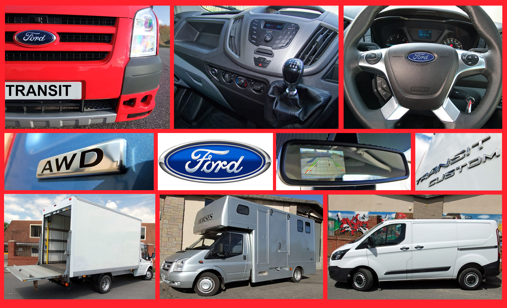 Ford Transit Van Hire Derbyshire East Midlands